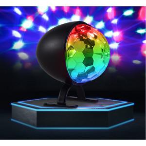 LED Mini Luz de proyección giratoria colorida 3W Pequeña bola mágica