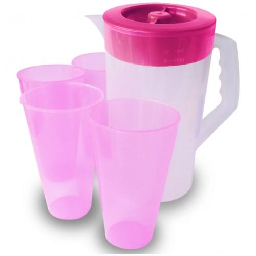 Juego de jarra con vasos