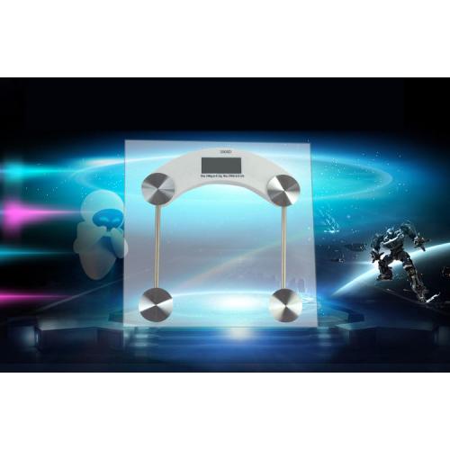Báscula electrónica de vidrio templado con pantalla digital LCD BAS03