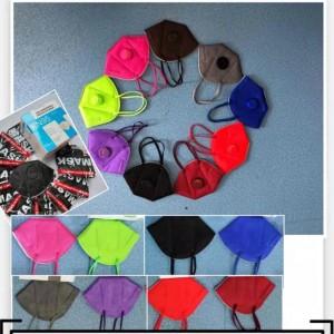Cubrebocas KN95 de colores SIN válvula