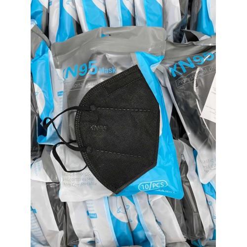 Cubrebocas KN95 negro sin válvula