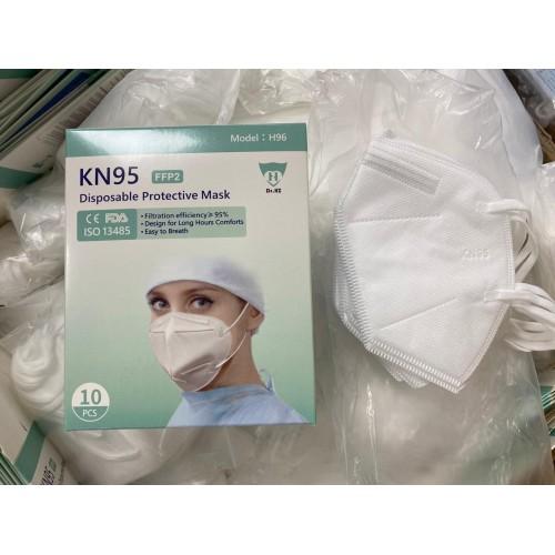 Cubrebocas KN95 blanco sin válvula Mod. H92