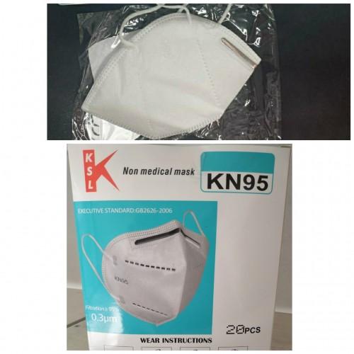 Cubrebocas KN95 blanco sin válvula COV075