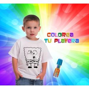 Playera infantil para colorear