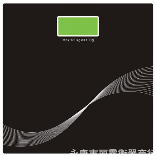 Báscula electrónica de vidrio con pantalla BAS04