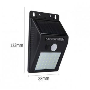 Lámpara 48 LEDS de pared solar para exteriores con sensor DT172