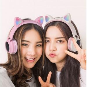 Auriculares de diadema  de oreja de gato EJ108