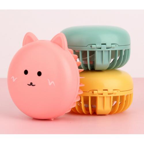 Ventilador de espejo de luz de relleno de dibujos animados de gato FS147