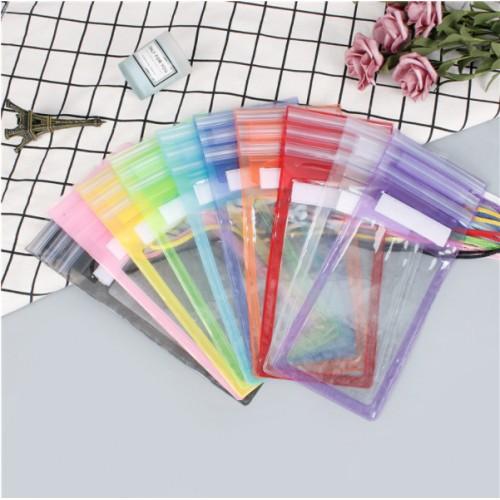 Bolsa de PVC impermeable Velcro pequeño para teléfono móvil de tres pliegues