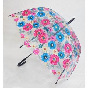 Paraguas estampado transparente tipo hongo