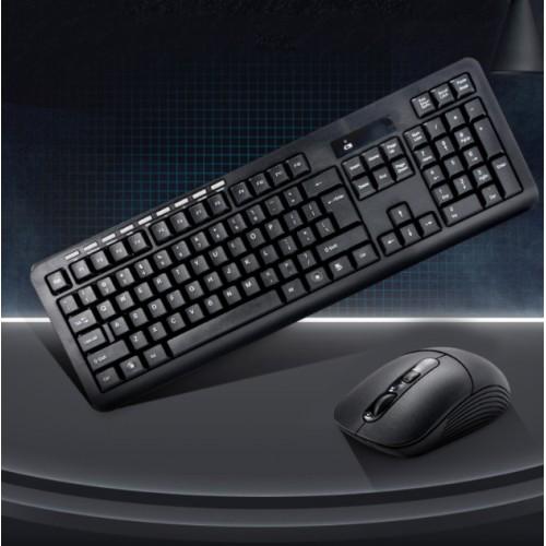 Juego de teclado y mouse multimedia inalámbrico universal HK6800
