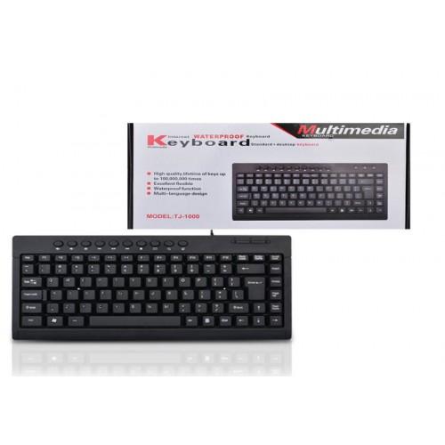 Mini teclado negro universal con cable TJ1000