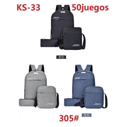 Mochila combo de 3 piezas KS-33