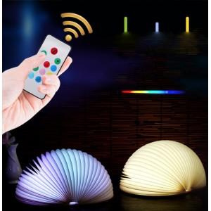 Lámpara luz nocturna semicircular cuero LED plegable, personalización de luz CON CONTROL