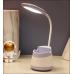 Lámpara de escritorio LED con soporte para bolígrafo