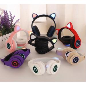 Auricular de diadema Bluetooth de oreja de gato con luz LED LY280