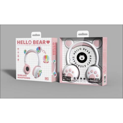 Audífonos inalámbricos con pata de oso
