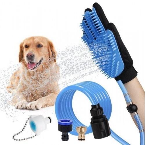 Guante de baño y masaje para mascotas