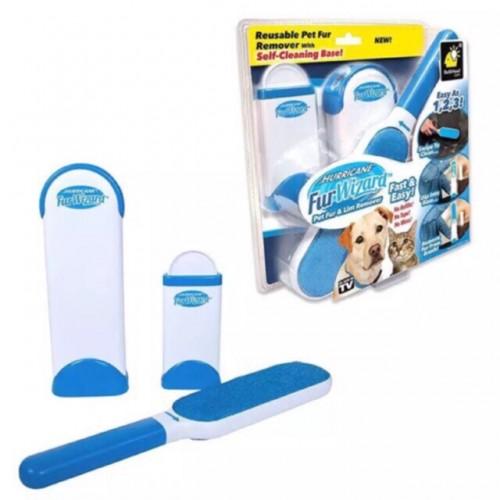 Cepillo para pelusa Quitapelos para perros y gatos. Base de autolimpieza reutilizable