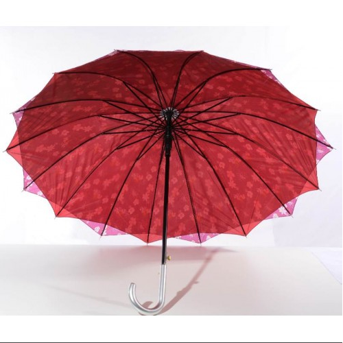Paraguas reforzado con 16 varillas y doble tela. Estampados. Caja con 36 piezas.