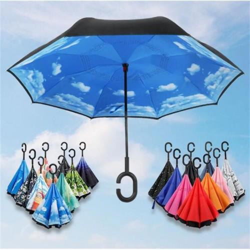 Paraguas invertido. Caja con 36 piezas. Estampados