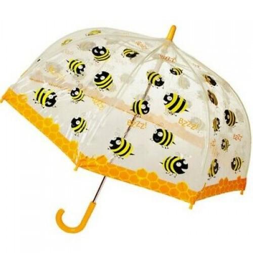 Paraguas infantil transparente tipo hongo. Caja con 60 piezas.