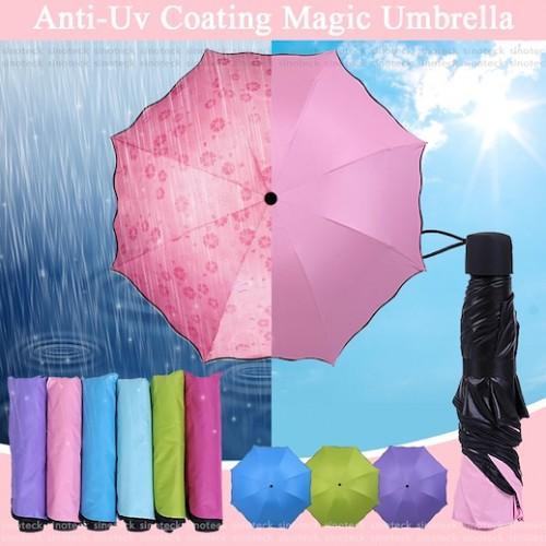 Paraguas mágico. Cambia de color con la lluvia