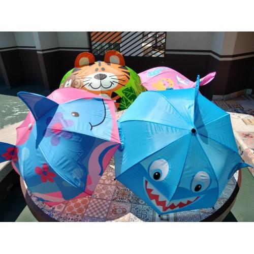 Paraguas infantil 3D reforzado.