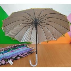 Paraguas reforzado con 16 varillas y doble tela CON FILTRO SOLAR