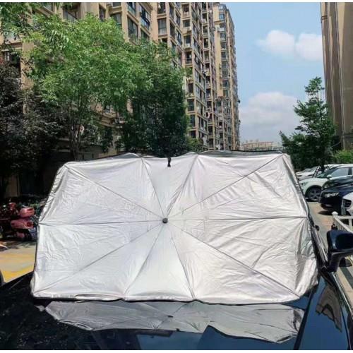 Parasol para auto protector solar retráctil para parabrisas con aislamiento térmico