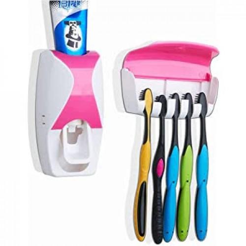 Dispensador Automatico Pasta Dental Con Porta Cepillos