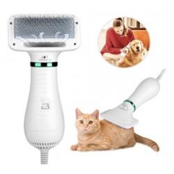 Secadora cepillo 2 en 1 para mascotas