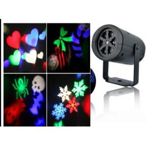 Lámpara de proyección de figuras. Navidad, Halloween, fiesta y más DS101