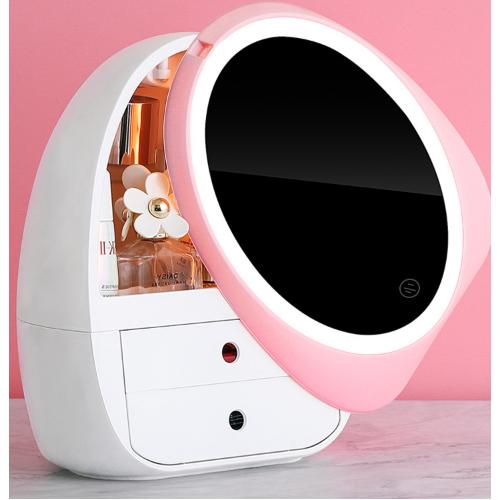 Caja de almacenamiento de maquillaje con luz LED SNH05
