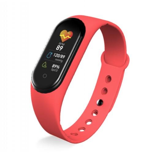 M5 pulsera inteligente monitorización de la frecuencia cardíaca y la presión arterial recordatorio de información Bluetooth llamada podómetro
