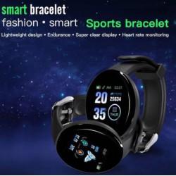 Smar twatch pulsera inteligente de pantalla redonda pantalla a color, monitorización del sueño podómetro, impermeable, deportiva para hombres y mujeres