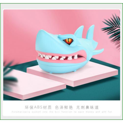 juguete de tiburón mordedor de mano