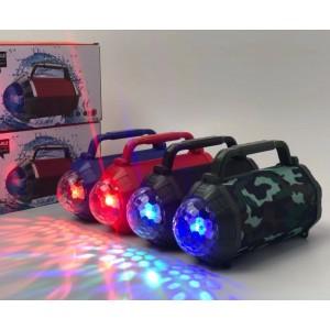 Inalámbrico bluetooth audio TS222 subwoofer portátil, colorido luz intermitente