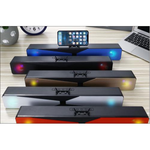 Bocina bluetooth de barra con luz RGB