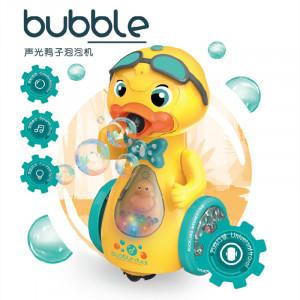 Pato máquina de burbujas con luz y sonido